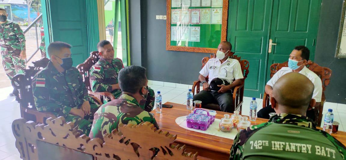 Bangun Sinergitas Dalam Pemberantasan Narkoba, BNNK Belu Kunjungi Mako Satgas Pamtas RI-RDTL