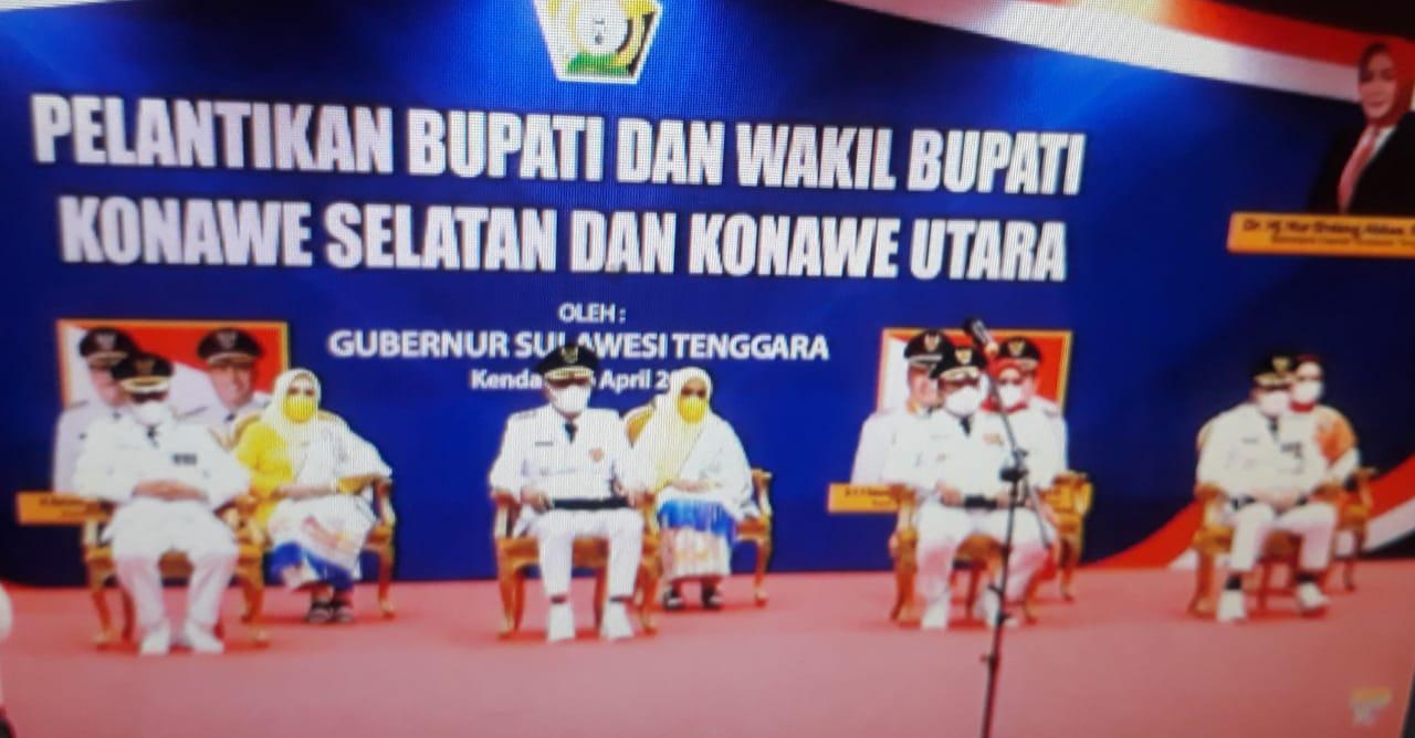Gubernur Sultra Lantik Pasangan Surunuddin - Rasyid Sebagai Bupati dan wakil bupati Konawe Selatan