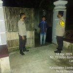 Antisipasi 3C di Bulan Ramadhan Polsek Aikmel Patroli Keliling