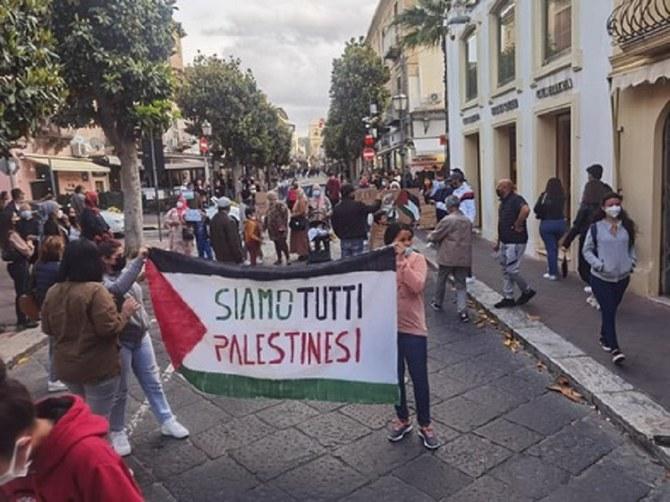 Protes pro-Palestina diadakan di seluruh Italia