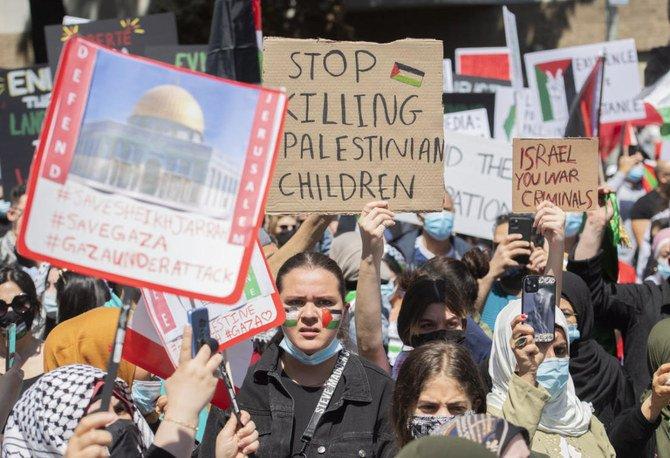 Pengunjuk rasa pro Palestina dan pro Israel bentrok di Kanada