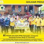 Fraksi Golkar DPRD Kabupaten Jeneponto Sambangi Korban Banjir di Tarowang