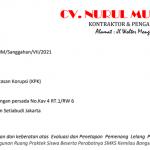 Tak terima hasil Evaluasi dan Penetapan Pemenang Lelang, CV Nurul Muhlisa Layangkan Sanggahan ke KPK