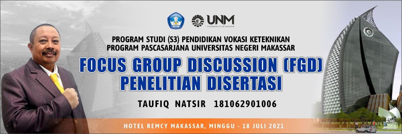 Focus Group Discussion, Taufiq Natsir Paparkan gagasan Model Pembelajaran Proyek di Perguruan Tinggi