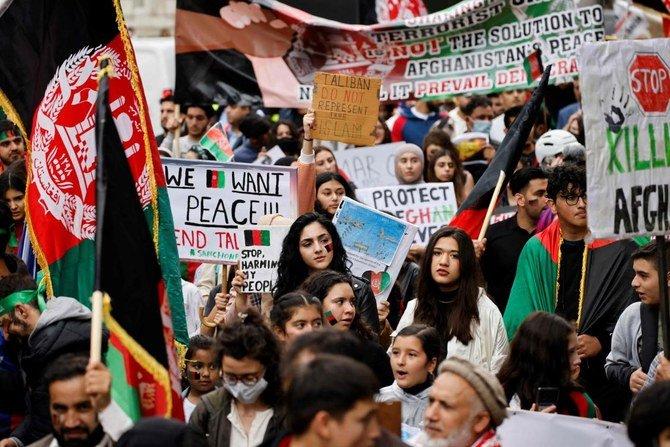 Ribuan orang berkumpul di London mengecam pengambilalihan Taliban