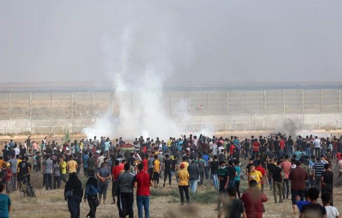 Israel menembaki warga Palestina yang memprotes di Gaza, 24 terluka