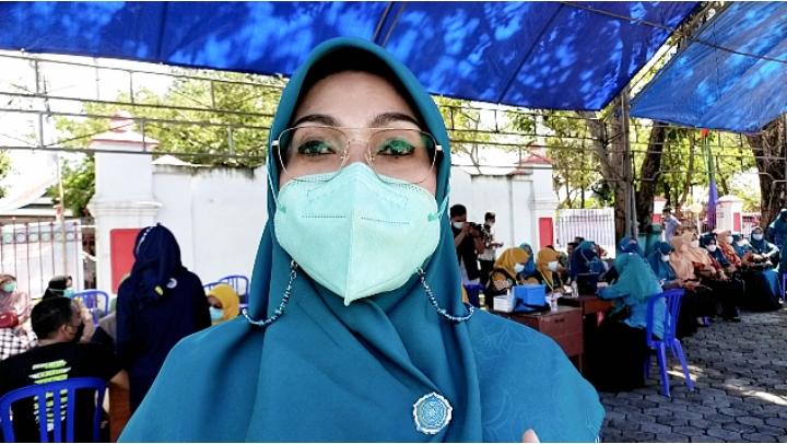 Pengurus PKK Jeneponto Gelar Kegiatan Vaksinasi, Ini Harapan Hj. Hamsiah Iksan