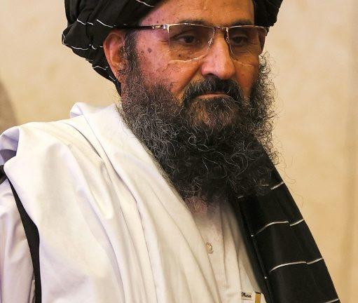 3 dari 3 pendiri dan kepala perunding Taliban, Abdul Ghani Baradar, di Doha pada 18 Juli 2021 - AFP