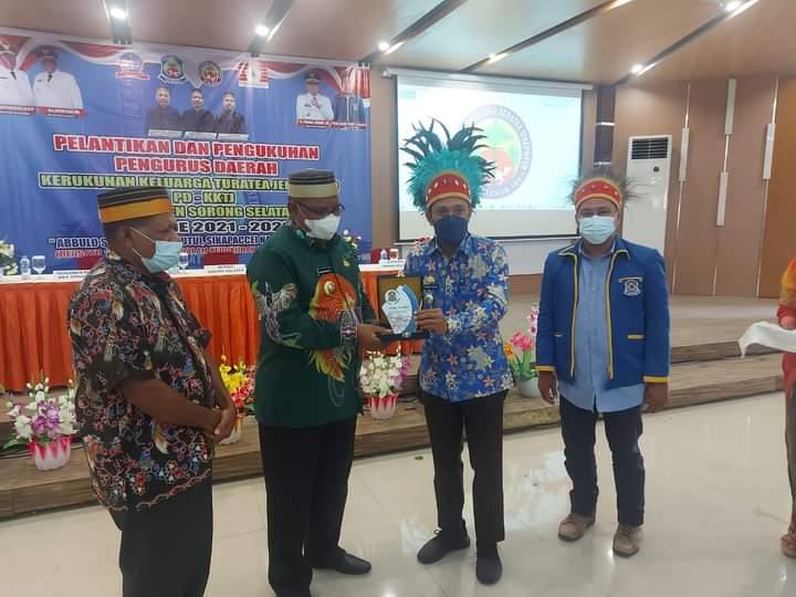 Wabup Jeneponto Hadiri Pelantikan Pengurus KKT Kabupaten Sorong Selatan
