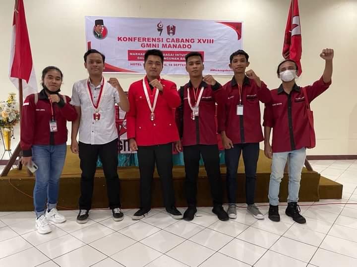 Tampi nahkodai DPC GMNI Manado Periode 2021-2023