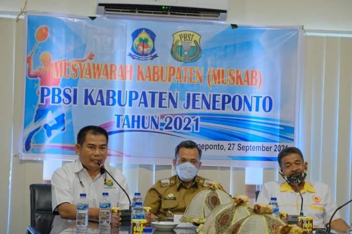 Paris Yasir Terpilih Jadi Ketua Umum PD-PBSI Kabupaten Jeneponto