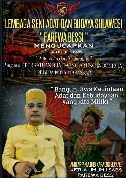 Ketua Umum LSABS PAREWA BESSI Ucapkan Selamat dan Sukses atas Rapat Pengurus PEBIDA Makassar