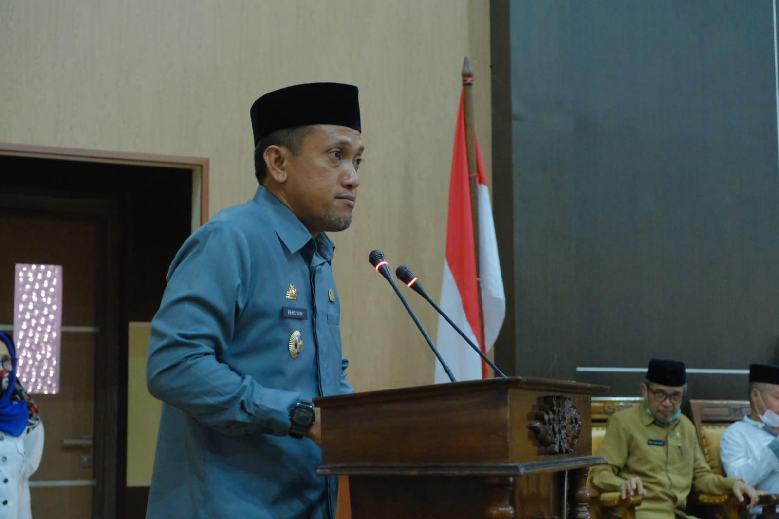 Wabup Jeneponto Hadiri Rapat Paripurna Tk-I Penyerahan Ranperda Perubahan APBD 2021