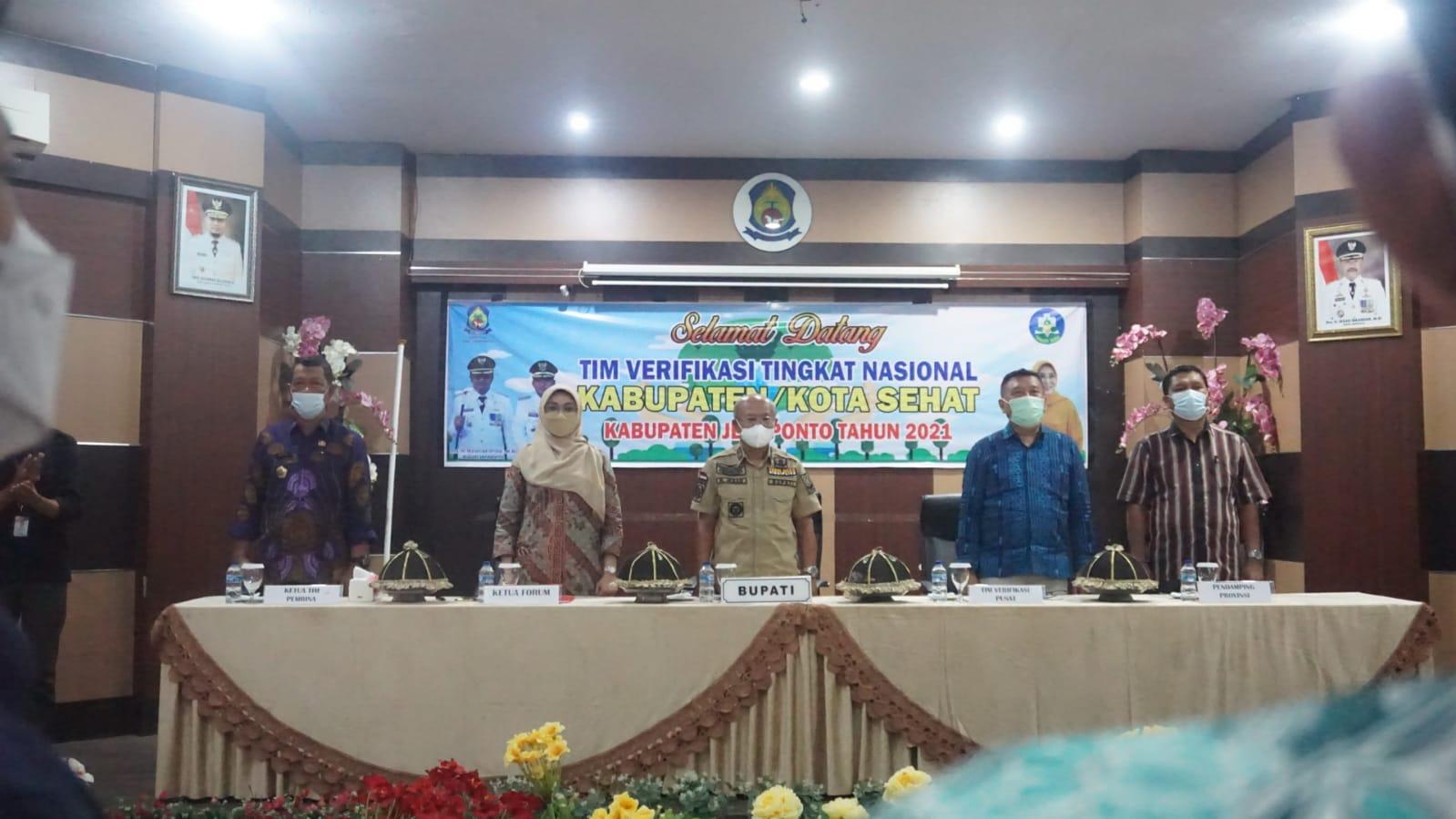 Bupati Jeneponto Sambut Kunjungan Tim Verifikasi Nasional Kabupaten/Kota Sehat